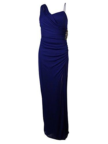 Onyx Nite Women's Embellished Draped Chiffon Dress (2