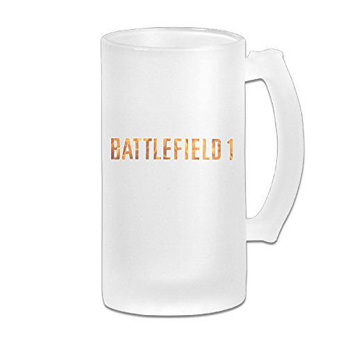 Battlefield-1-Fire-Great-Extra-Large-Frosted-Glass-Beer-Mug-Personalized-Beer-Stein-Tea-Coffee-Cups-17-Ounce-500ML