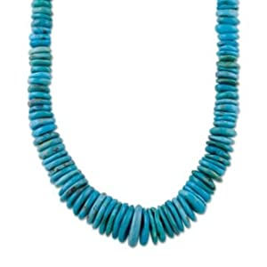 Southwest Spirit Sterling Silver Turquoise Rondelle Necklace