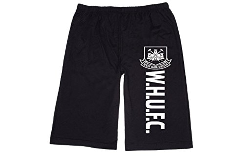 RBST Men's West Ham United FC London Badge logo Lounge breeches Shorts Pants XL Black (West Ham United Fc Shorts compare prices)