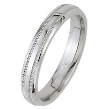 High-Polished Dome Park Avenue Wedding Bands in 14k White Gold (3mm)