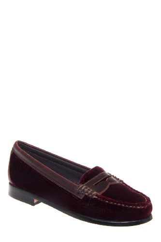 Bass Weejuns Weejuns Virginia Low Heel Penny Loafer - Port Velvet