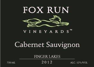 2012 Fox Run Vineyards Finger Lakes Cabernet Sauvignon 750 Ml