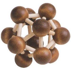 """CHH - Molecule - 3D Wooden Puzzle Brain Teaser, Dimensions 3 ½"""" x 3½"""" x 3 ½"""""""