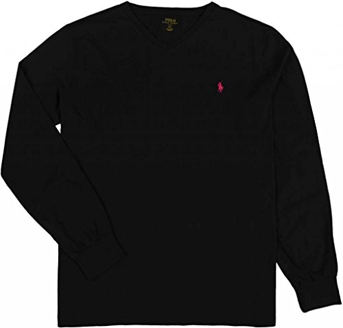 Polo Ralph Lauren Men's Classic-Fit Long Sleeve V-Neck T-Shirt, Polo Black, S