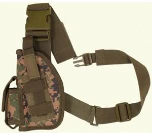 Fox Outdoor SAS Tactical Leg Holster, Digital Woodland - 4in Left Handed