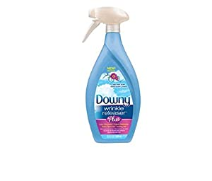 Downy Wrinkle Releaser Plus, Light Fresh Scent, 33.8 Fl. Oz. Plastic Trigger Spray Bottle, Wrinkle Remover + Odor Eliminator + Fabric Refresher + Static Remover + Ironing Aid, with New and Improved Sprayer for More Even Mist
