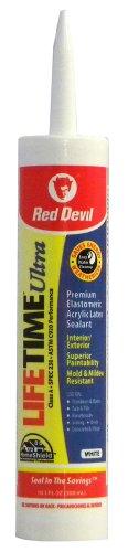 Red Devil 0770 Lifetime Ultra Premium Elastomeric Acrylic Latex Sealant, White, 10.1-Ounce