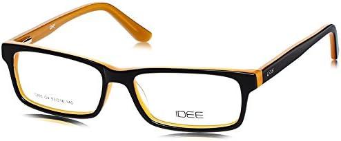 Idee Full Rim Eyewear Frame (Black and Orange ) (ID1265C4FR 53)