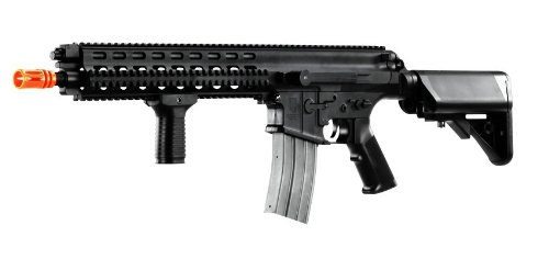Licensed Echo1 Rob Arms Xcr-L Electric Airsoft Gun Advanced Polymer/Metal Fps-390 (Black)