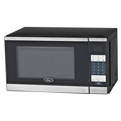 Brentwood Oster .7 Cu. Ft. Digital Microwave Oven - Black With Stainless Steel Front front-536181