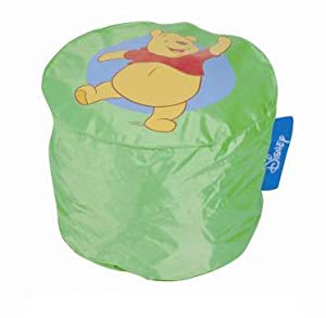 fauteuil pouf pour enfant 48x35 cm vert winnie disney b b s pu riculture. Black Bedroom Furniture Sets. Home Design Ideas