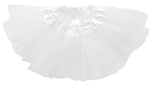 Dancina Baby Girls' Toddlers Tutu Classic Triple Layer Tulle 6 to 18 Months Plus White (Ruffled White Pettiskirt)