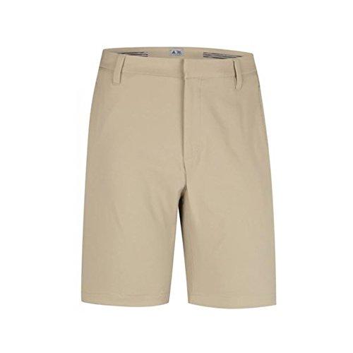 adidas Golf Men's Climalite 3-Stripes Shorts, Khaki, 36