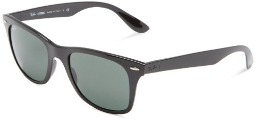 4e65815a1b Ray Ban mens 0RB4195 601 7152 Tech Liteforce Wayfarer Sunglasses Black 52 mm