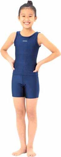 スクールセパレーツ水着(上)女児用150 学校水泳授業で人気のセパレート型スクール水着 ※パット入りで安心