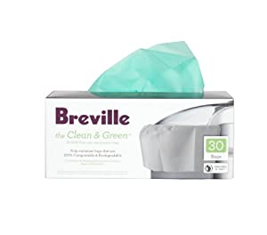Breville BJE030 Clean and Green Biodegradable Pulp Container Bag for Juicers by Breville