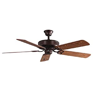 "Harbor Breeze 52"" Classic Style Antique Bronze Ceiling Fan. Reversible Blades Walnut / Cherry (ENERGY STAR)"
