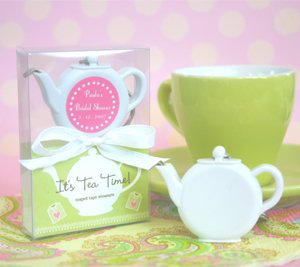 It's Tea Time! Teapot Tape Measure - Baby Shower Gifts & Wedding Favors (Set of 24)