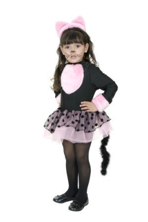 Toddler Adorable Miss Pretty Kitty Costume (Shoes/Makeup/Tights Not Included)