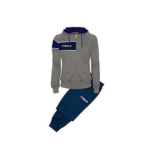 Tuta Clio Grigio-Blu Zeus Corsa Sport Uomo Staff Running jogging Allenamento Relax Calcio Calcetto Torneo Scuola Sport (M)