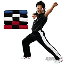 ProForce Gladiator 8oz Demo Karate Pants - Red w/ Black Stripe - Size 3