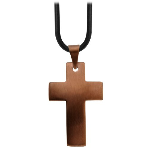 Inox 316L Stainless Steel Cappuccino Plated Cross Pendant