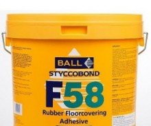 F Ball F58 Rubber Floor Covering Adhesive 5ltr