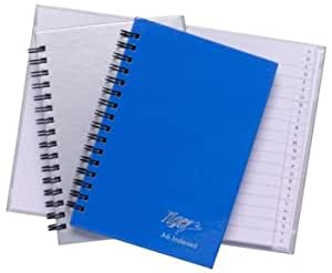 Tiger A6 indexed spiral twinwire manuscript notebook 80 sheets (single book)