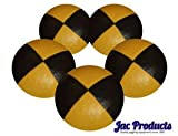 5 180G Jac Products Professional Thud Juggling Balls Yellow/Black