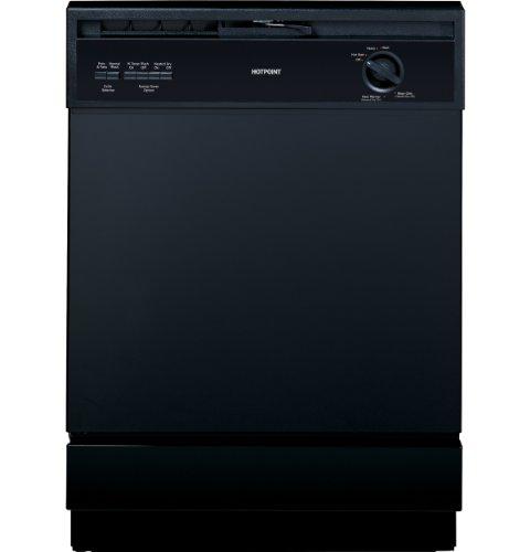 "Hotpoint Hda3600Dbb 24"" Black Full Console Dishwasher - Energy Star front-437779"