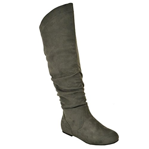 twisted s shelly wide calf faux suede knee high