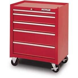 Waterloo Waterloo Shop Series 26 In. 5 Drawer Cabinet - 18D In., Red, Steel