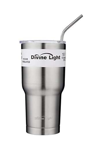 Divine Light Abizoe 30 Oz Tumbler Coolers Double Wall Vacuum Insulated Travel Mugs Stainless Steel Tumbler Cups with Lid - Keeps Drinks Cold and Hot
