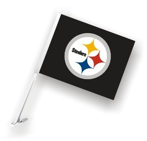 Pittsburgh Steelers Two Sided Car Flag at SteelerMania