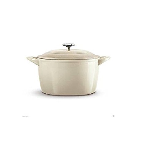Tramontina 6.5 Quart Enameled Cast Iron Dutch Oven Off-White (White Cast Iron Pot compare prices)