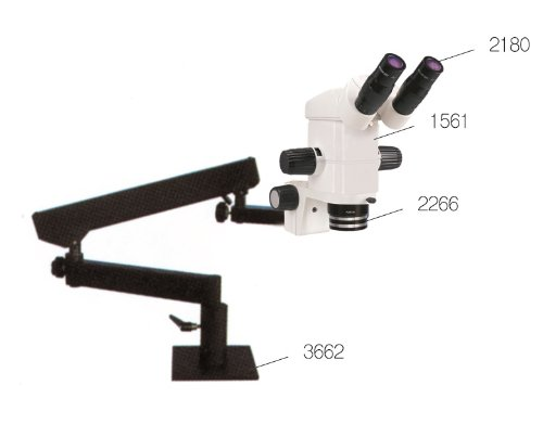 Sm Precision Stereo Zoom Binocular Microscope With Clamp Flexible Arm Stand