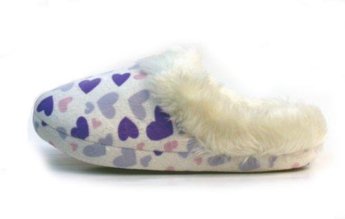 Cheap Luckers Women's Purple Heart Slippers (B008N2K9AS)