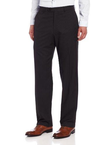 Haggar Mens Striped Plain-Front Suit Separate Pant