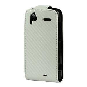 Iprotect ORIGINAL HTC SENSATION FLIPCASE / CARBON WEISS / WHITE TASCHE CASE Schutzhülle