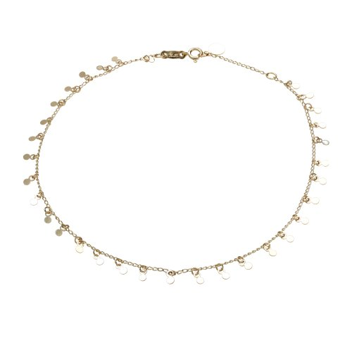 Duragold 14k Yellow Gold Adjustable Anklet  Small