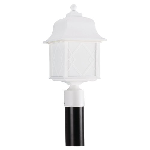 Sea Gull Lighting 82192Bl-15 Harbor Point Outdoor Post Lantern, White
