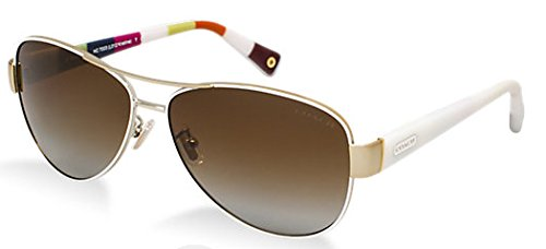 491ab7abf18 New Coach Kristina Hc 7003 9051 t5 Gold White Polarized Sunglasses 59mm