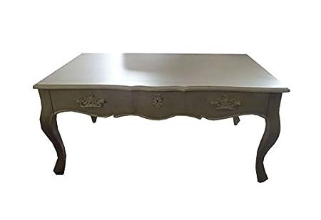 Art.HE60 Tavolino Da Salotto In Legno Decapato
