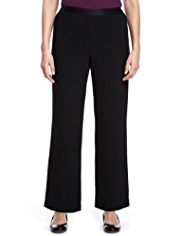 Classic Crêpe Wide Leg Trousers