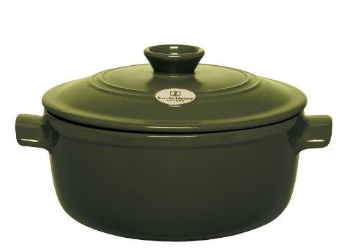 Emile Henry 4.2 qt. Stew Pot - Olive emile henry квадратная форма для запекания 2 05 л 28x23 см крем
