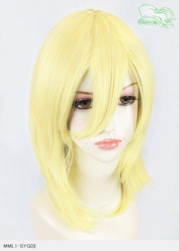スキップウィッグ 魅せる シャープ 小顔に特化したコスプレアレンジウィッグ フェザーミディ ミルキィゴールド
