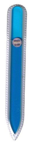 ブラジェク ガラス爪やすり 140mm 片面タイプ オールカラー ブルー Bー03