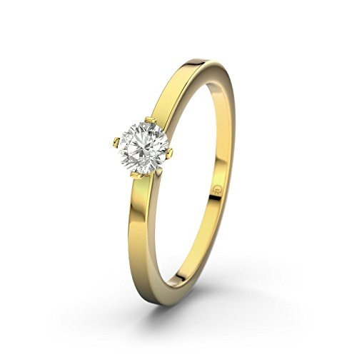 21DIAMONDS Bahamas SI2 0.2 ct Brilliant Cut Diamond Engagement Ring, 9ct Yellow Gold Ladies Engagement Ring