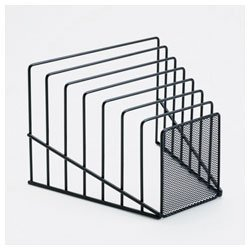 Rolodex Mesh Step Sorter, Seven Sections, Wire, 9.25 inches Width x 7.75 Inches Depth x 6.25 Inches Height, Black (22201)